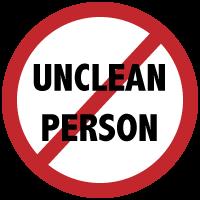 unclean-person